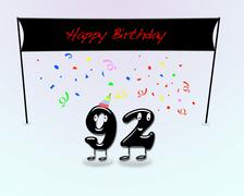 92th birthday party. - stock illustration