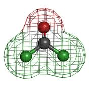 Phosgene chemical warfare agent molecule, chemical structure Stock Illustration