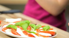 Caucasian Girl Close Up Kitchen Preparing Healthy Lunch Stock Footage