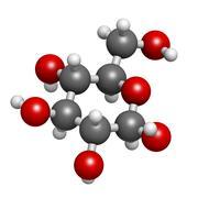 Glucose (beta-d-glucose, grape sugar, dextrose) molecule, chemical structure Stock Illustration