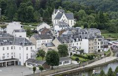 The belgium city bouillon Stock Photos