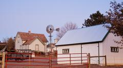 old farm house - stock photo