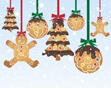 Stock Illustration of gingerbread baubles