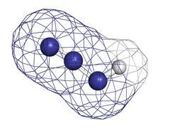 Hydrazoic acid (hydrogen azide) molecule Stock Illustration