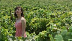 Vineyard walk Stock Footage