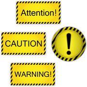 Varoitus, huomiota, varovaisuus Piirros