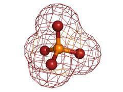 Phosphate, molecular model Stock Illustration