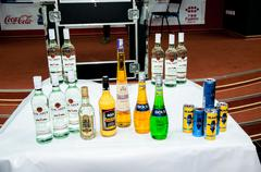 Stock Photo of preparation for the contest of barmen