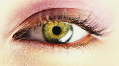 Macro Close-up eye blinking Stock Footage