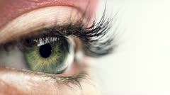 Human eye close up macro Stock Footage