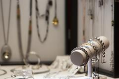 Jewellery display - stock photo