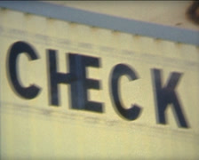 SUPER 8 check out sign - stock footage