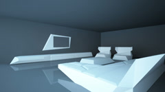 Abstract architectural interior living room. Living room room is up to date styl Stock Footage