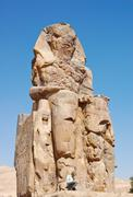 Colossi of memnon , egypt Stock Photos