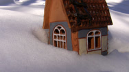 Stock Video Footage of Christmas cottage on the snow