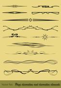 Page dividers Stock Illustration