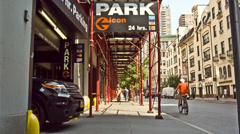 Parking Garage in New York Stock Footage