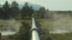 hot water pipeline in iceland for teleheating - stock footage