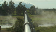Stock Video Footage of hot water pipeline in iceland for teleheating