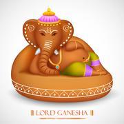 Lord Ganesha Stock Illustration