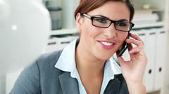 Smart phone for a smart woman Stock Footage