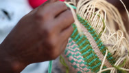Stock Video Footage of Basket weaving tight