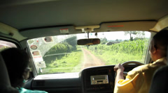 Driving bumpy road Kenya Stock Footage