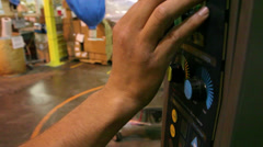 Working wrapping equipment Stock Footage