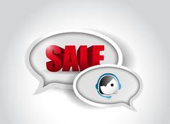 Stock Illustration of sale customer support communication