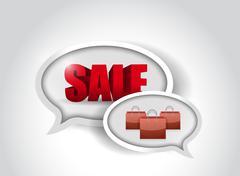 Stock Illustration of sale shopping bags communication illustration