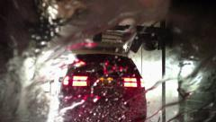 Carwash tunnel fast motion Stock Footage