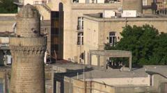 Baku old town, zoom Stock Footage