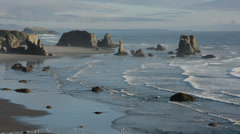 View S MS high angle bandon Stock Footage