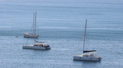 Sailingboats from above Stock Footage