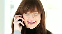 Young woman talking on mobile phone Stock Footage