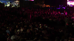 Jazz festival crowd timelapse Stock Footage