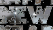 Happy New Year pre-keyed production element font and fx variation 11 Stock Footage