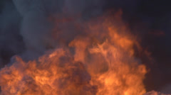 Fire, smoke and flames Stock Footage