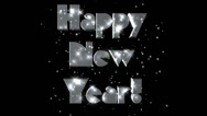 Happy New Year pre-keyed production element font and fx variation 4 Stock Footage