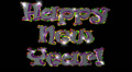 Happy New Year pre-keyed production element font and fx variation 3 Footage