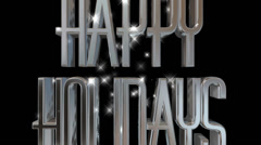 Happy Holidays pre-keyed production element font and fx variation 12 - stock footage