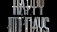 Happy Holidays pre-keyed production element font and fx variation 12 Stock Footage