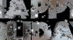 Happy Holidays pre-keyed production element font and fx variation 11 - stock footage