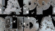 Happy Holidays pre-keyed production element font and fx variation 11 Stock Footage