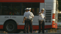 Rome traffic police 1 (slomo) Stock Footage