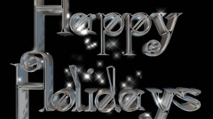 Happy Holidays pre-keyed production element font and fx variation 8 - stock footage