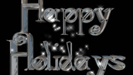 Happy Holidays pre-keyed production element font and fx variation 8 Stock Footage