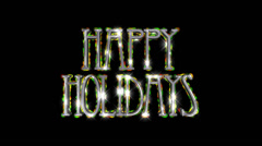 Happy Holidays pre-keyed production element font and fx variation 4 - stock footage