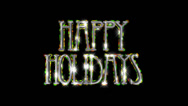 Happy Holidays pre-keyed production element font and fx variation 4 Stock Footage