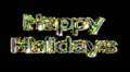 Happy Holidays pre-keyed production element font and fx variation 5 Footage